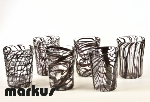 Set of 6 glasses Dark