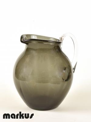Caraffa colore grigio in vetro di Murano.