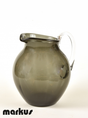 Murano glass Jug grey color