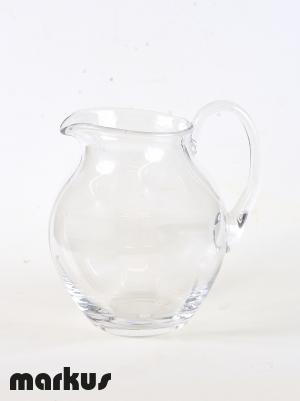Caraffa trasparente in vetro di Murano