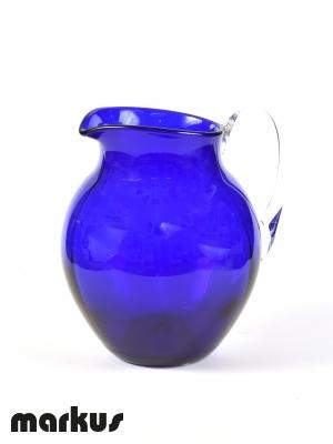 Caraffa di colore blu in vetro di Murano