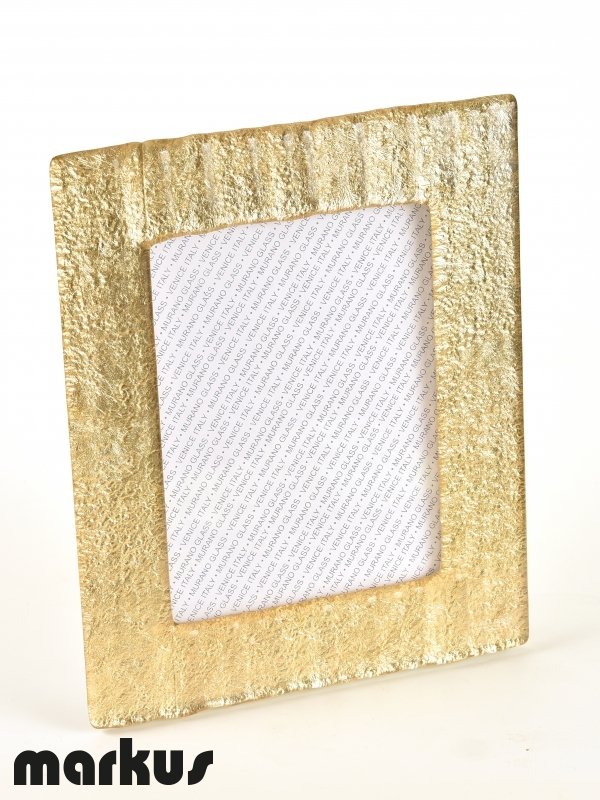 Murano glass picture frames with gold leaf
