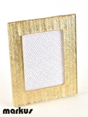 MURANO GLASS PICTURE FRAME WITH GOLD LEAF BIG SIZE