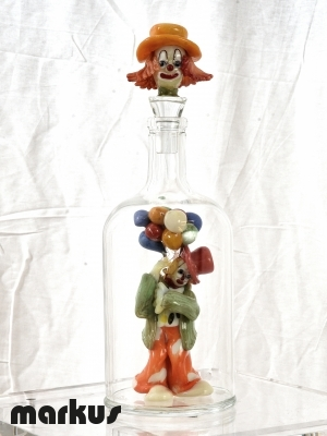Clown in the bottle