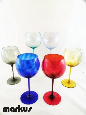 set 6 bicchieri  cristallo Baloon
