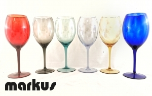 water set of 6 crystal glasses