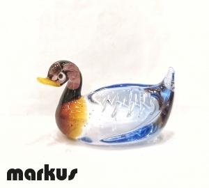 Glass Duck Amber- Light Blue