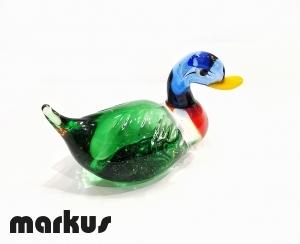 Glass Duck Green-Red-Light Blue