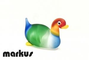 Glass Duck Red-Green-Light Blue