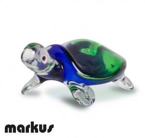 glass turtle blue and green color
