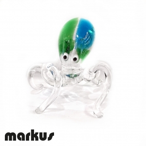 Octopus light Green and light Blue color