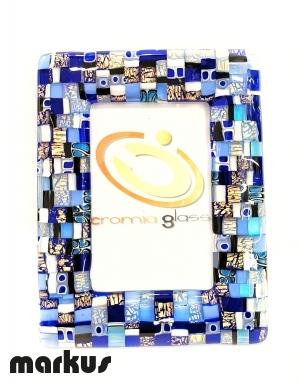 Cornice oro 24k Mosaico Blu media