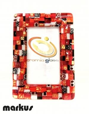 Cornice oro 24k Mosaico rosso piccola