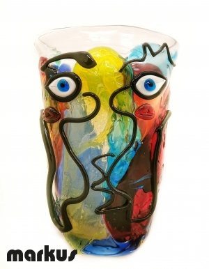 Abstract Face Vase _2