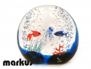 Glass aquarium stone small size