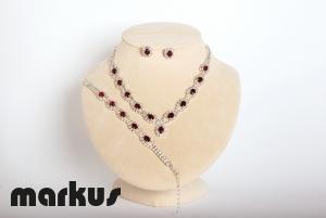Set cristallo colore rosso rubino