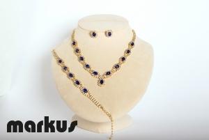 Crystal set blue sapphire color