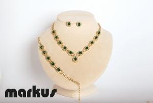 Set cristallo colore verde smeraldo