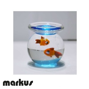 Pesciera con due pesci rossi misura grande