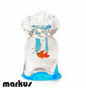Sacchetto pesce rosso misura media.
