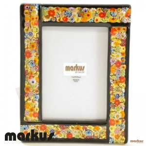 Black glass picture frame medium small size