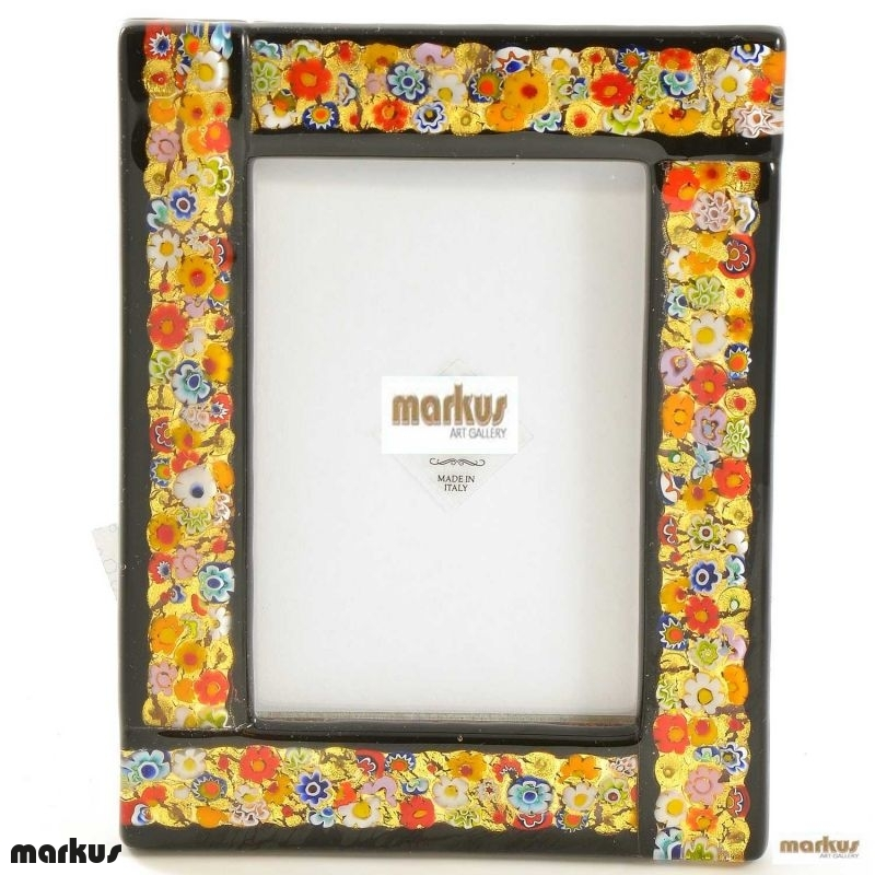 black glass picture frame small size