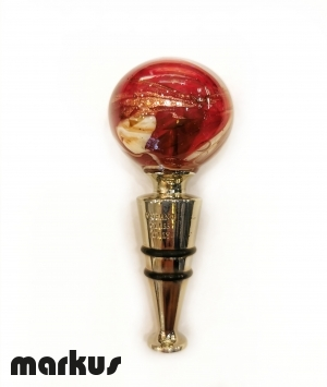 Glass stopper Red Color