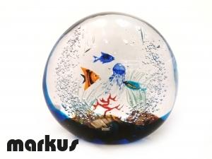 Glass aquarium stone medium size