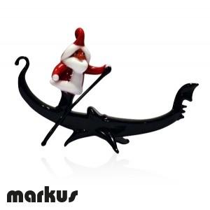 Babbo Natale in gondola