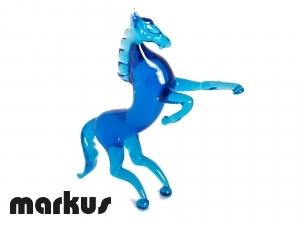 Glass horse Aquamarine color