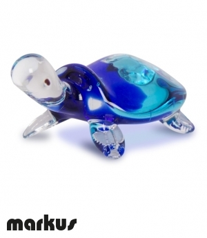 glass turtle blue and light blue color