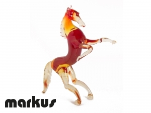 GLASS HORSE RED COLOR